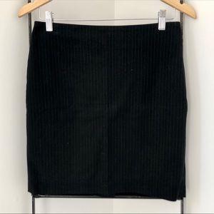 Banana Republic Navy Blue Pinstripe Pencil Skirt
